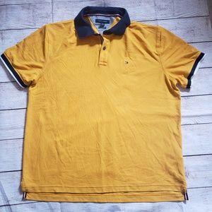Tommy Hilfiger mens mustard polo shirt XL